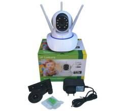 Camera Robo 3 Antenas Ip Wifi 360º 720p Sistema Yoosee