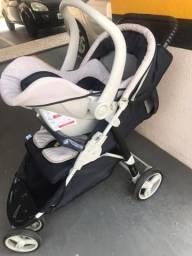 Kit carrinho de bebê + bebê conforto + base - GALZERANO