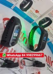 Pulseira relógio Smart Inteligente Smartband M3 Com tela colorida