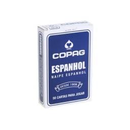 Baralho Espanhol Bridge Size Naipe Convencional Copag Azul