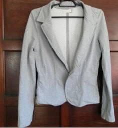 Casaco blazer feminino em moletom