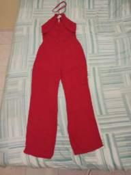 Macacão longo vermelho