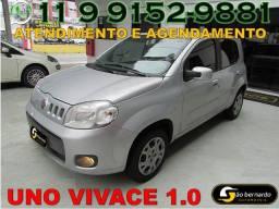 Fiat Uno Vivace 1.0 Flex - Completo - Ano 2012 - Financiamento Fácil