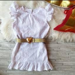 Vestido branco ano novo infantil
