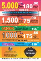 Panfletos 90g 10x15 só frente 5000unidade