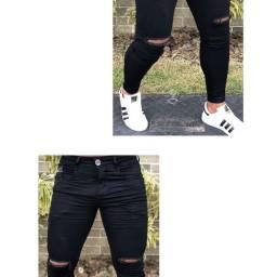 Calças masculinas skinny