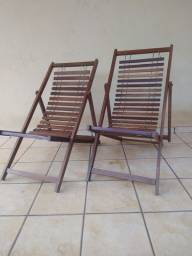 2 Cadeiras espreguiçadeiras
