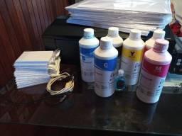 Impressora Epson L 18000 + folhas + tinta
