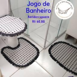 JOGO DE TAPETES BANHEIRO ANTIDERRgAPANTE