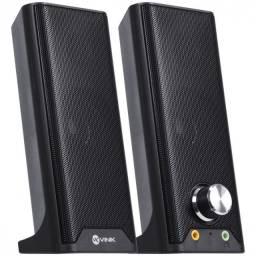 Caixa de som 2.0 dual basic 6w - fone e microfone - cxdu-bsic