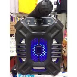 Caixinha de som Bluetooth USB com microfone