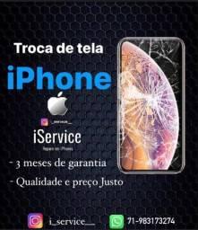 Título do anúncio: Troca de tela iPhone todos os modelos delivery