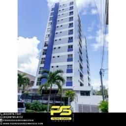 (MOBILIADO) Apartamento com 2 dormitórios para alugar, 52 m² por R$ 2.300/mês - Tambaú - J
