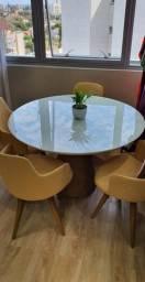 Título do anúncio: Mesa redonda e cadeiras giratórias