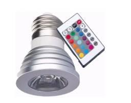 Título do anúncio: Lampada Rgb C/ Controle - 3W rgb - Mega Infotech