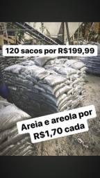 Areia e areola ensacada por apenas R$1,70