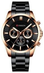 Relógio Curren 8358 Preto Original - Novo, Nota fiscal, Parcela sem juros