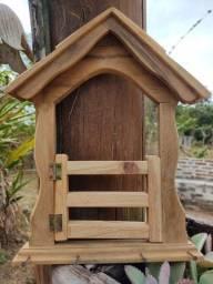 Suporte para chave em madeira