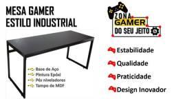 Mesa Gamer Estilo Industrial