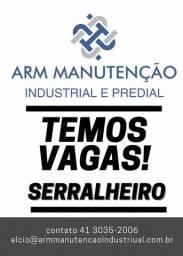Contrata-se Serralheiro