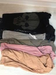 Combo blusas feminina - tamanho M
