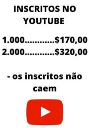 Título do anúncio: Inscritos no YouTube