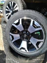 Jogo de roda aro 20 da hilux com pneus
