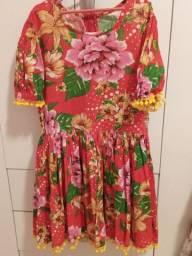 Lindo vestido caipira veste 6 a 8/9 anos