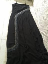 Vendo vestido de festa tamanho G bordado longo