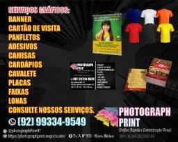 Adesivos,Banner, Cartão de Visita, Panfletos, Cardápios, Convites e Camisas Personalizadas