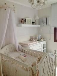 Quarto de Bebê - Provençal Branco (berço e cômoda)