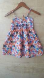 Kit vestidos infantis 100% algodão 3 uni semi novos