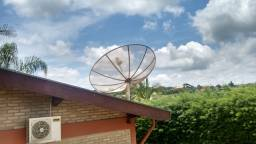 Kit Antena Parabólica com Lnbf multiponto + 1 Lnbf monoponto grátis