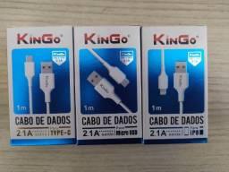 Cabo carregador Iphone - Micro USB v8 - Tipo C