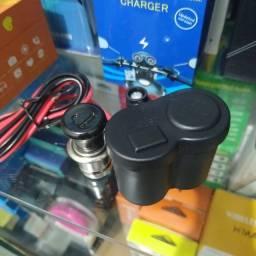 CARREGADORES USB PARA MOTOS, NOVOS R$50,00