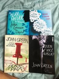 4 livros John Green - Cidades de papel, Quem é você alasca, Deixe a neve cair e Will&Will