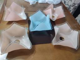 Globos cúpula de vidro para lustre