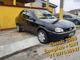 Classic 2008 Completo + GNV. Troco / Cartão 12x