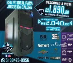 Computador PC Gamer I3-3240 / GT 1030 2GB / Memória 8GB / HD 500GB / em até 12x sem juros