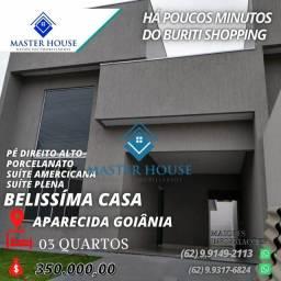 Casa 03 quartos  próximo terminal vila Brasília aparecida de Goiânia