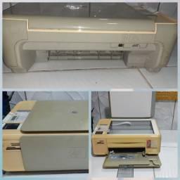 estante de computadores em MDF e impressora HP C4280