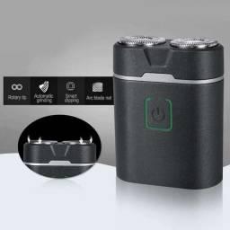 (WhatsApp) barbeador elétrico - 2 laminas - usb recarregável - aiker - ag-018