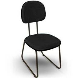 Cadeiras Secretaria Trapézio Fixa Nova Espuma Injetada Home Office