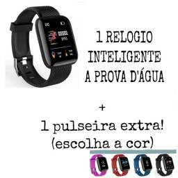 Relógio smart com 1 pulseira extra!!!!