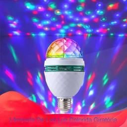 Título do anúncio: Lâmpada De Led Luz Colorida Giratória Rotativa Maluca