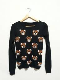 Casaco tricot ursinhos seminovo