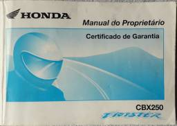 Manual Do Proprietário Honda Cbx 250 Twister 2003