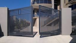 Kit portão eletrônico pivotante residencial duas folhas