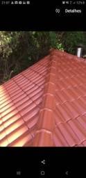 Pinturas de telhados no compressor