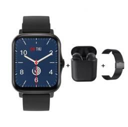 Kit Smartwatch  + Fone Bluetooth + Pulseira Extra